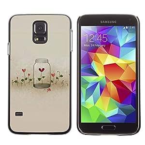 LECELL--Funda protectora / Cubierta / Piel For Samsung Galaxy S5 SM-G900 -- Flowers Locked Heartbreak Deep --