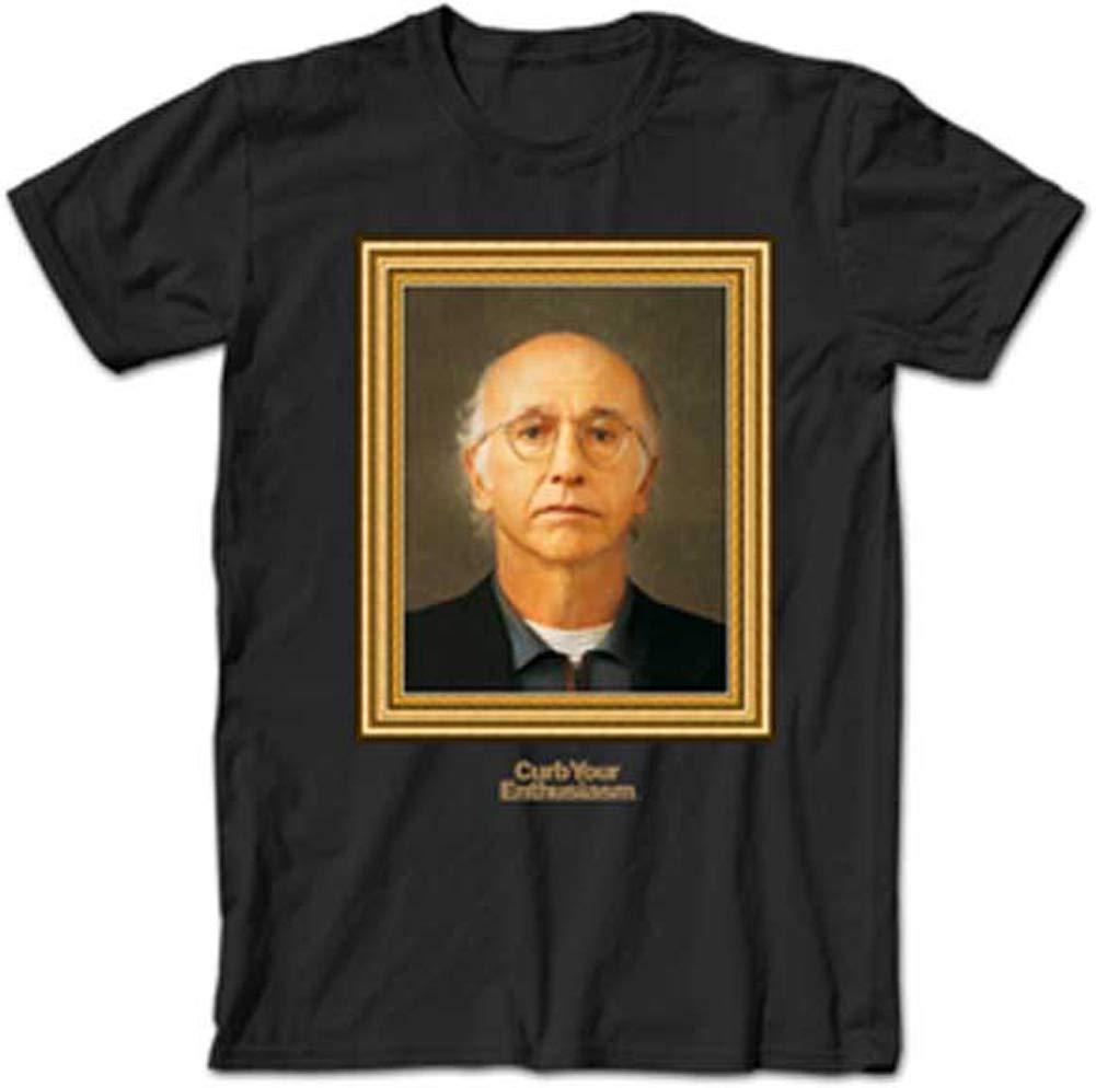 A E Designs Curb Your Enthusiasm Tshirt Larry David Portrait Adult Black Tee