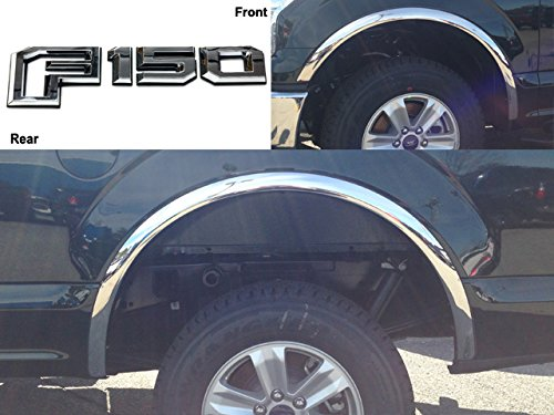 QAA FITS F-150 2015-2017 FORD (4 Pc: Stainless Steel Fender Trim - Clip on or screw in, hardware included - 2