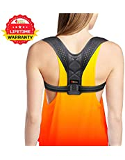 4well Back Posture Corrector for Women & Men - Effective and Comfortable Posture Brace for Slouching & Hunching - Discreet Design - Clavicle Support for Medical Problems & Injury Rehab
