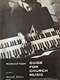 img - for Hammond Organ Guide For Church Music - Volume 1 book / textbook / text book
