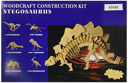 Stegosaurus Wood (Puzzled Natural Wood 3D Puzzles Big Stegosaurus 51 Pieces)