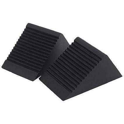 2 piezas/par calces de rueda negro para caravana y autocaravana trailerhorsebox coche