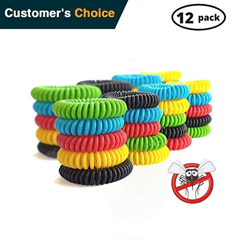 Natural Pest Control Insect (Urbanviva Mosquito Repellent Bracelet Band 12 Pack Pest Control Insect Bug Repeller, All Natural Waterproof Non Toxic No Deet Safe Outdoor & Indoor Kids Adults.)