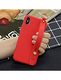 Amocase Soft Silicone Case with 2 in 1 Stylus for Samsung Galaxy Note 9,Cute Sweet Candy Color Wrist Strap Stand Shockproof Anti-Scratch Flexible Case - Red
