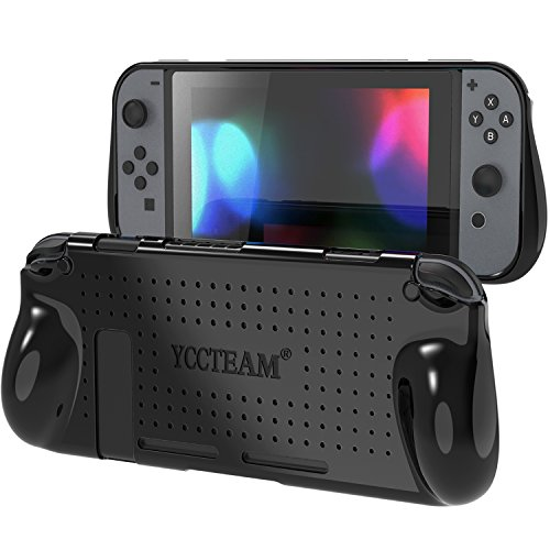 YCCTEAM Protective Case for Nintendo Switch, Heat Dissipation Comfortable Soft Silicone Gel Rubber Full Body Protection Shockproof Cover Case for Nintendo Switch in Handheld Gamepad Mode