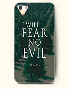 iPhone 4 4S Case OOFIT Phone Hard Case **NEW** Case with Design I Will Fear No Evil Psalm 23:4- Bible Verses - Case for Apple iPhone 4/4s