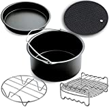 XL Air Fryer Accessories,Phillips Air Fryer Accessories and Gowise Air Fryer Accessories Fit all 4.3QT-5.3QT-5.8QT,Set of 5-8 inch
