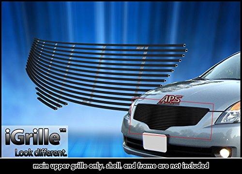 Off Roader Black Stainless Steel eGrille Billet Grille Grill for 07-09 Nissan Altima Sedan Insert - Nissan Altima Billet Grille