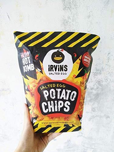 (IRVINS Salted Egg Potato Chips HOT BOMB 105g)