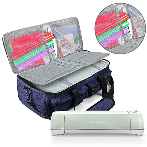 Cricut Explore Air Carrying Bag,Tote Bag Compatible with Cricut Explore Air 2,Cricut Maker,Silhouette and Supplies,No Accessories Included Navy
