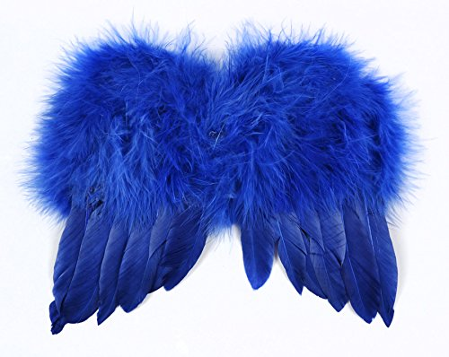 Touch of Nature 11062 Mini Feather Angel Wing, Navy 6 X 7-Inch - Navy Angel Costume