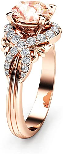 Huitan Statement Rings Champagne Cubic Zirconia Jewelry Ring