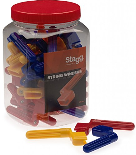 Stagg GSW-40 String Winders Jar Pack of 40 - 3 Assorted Colors by Stagg