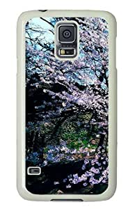 Cherry Blossom Trees Custom Samsung Galaxy S5/Samsung S5 Case Cover Polycarbonate White wangjiang maoyi