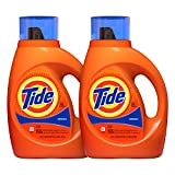 Tide Original Scent Liquid Laundry Detergent, 50 Fl Oz (Pack of 2) (Packaging May Vary)