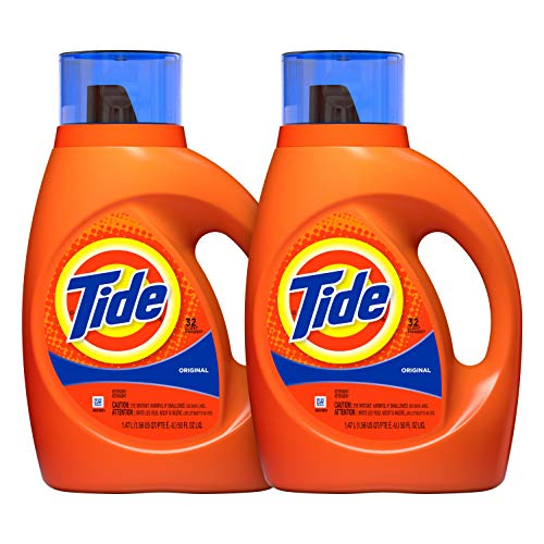 (Tide Original Scent Liquid Laundry Detergent, 50 Fl Oz (Pack of 2) (Packaging May)