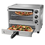 Oster Convection Oven with Dedicated Pizza Drawer TSSTTVPZDS, Silver