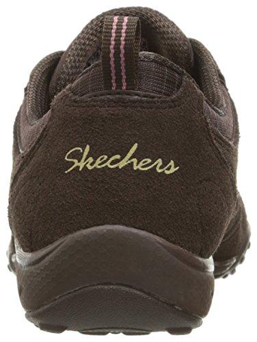 Skechers Breathe-Easy-Good Luck, Zapatillas para Mujer marr�n