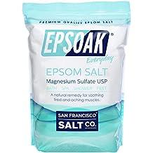 Epsoak Epsom Salt 19lbs Magnesium Sulfate USP Resealable Bulk Bag