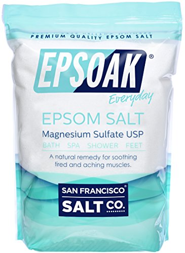 Epsoak USP Epsom Salt - 19 lbs. Resealable Bulk Bag (Best Epsom Salt Detox Bath)