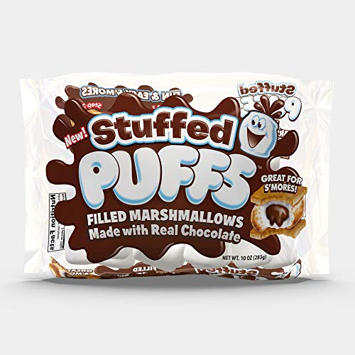 Stuffed Puffs, Chocolate Filled Marshmallows (10 oz bags, Pack of 2) (2)
