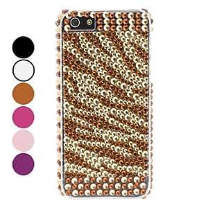 Rhinestones Style Stripe Design Hard Case for iPhone 5/5S --- COLOR:Purple
