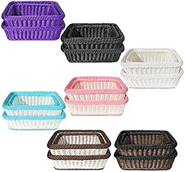 Set of 6 for Multipurpose UseFruit /& Vegetable BasketStorage BasketMakeup OrganiserOffice Stationary StorageBins D263 Brown Basket