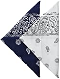 Best Bandanas - Levi's Men's Printed Bandanas (Pack of 2), Navy/White Review