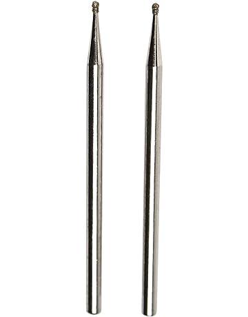 10pc meule Tête Diamant monté point pour outil rotatif 3 mm tige 6 mm tête