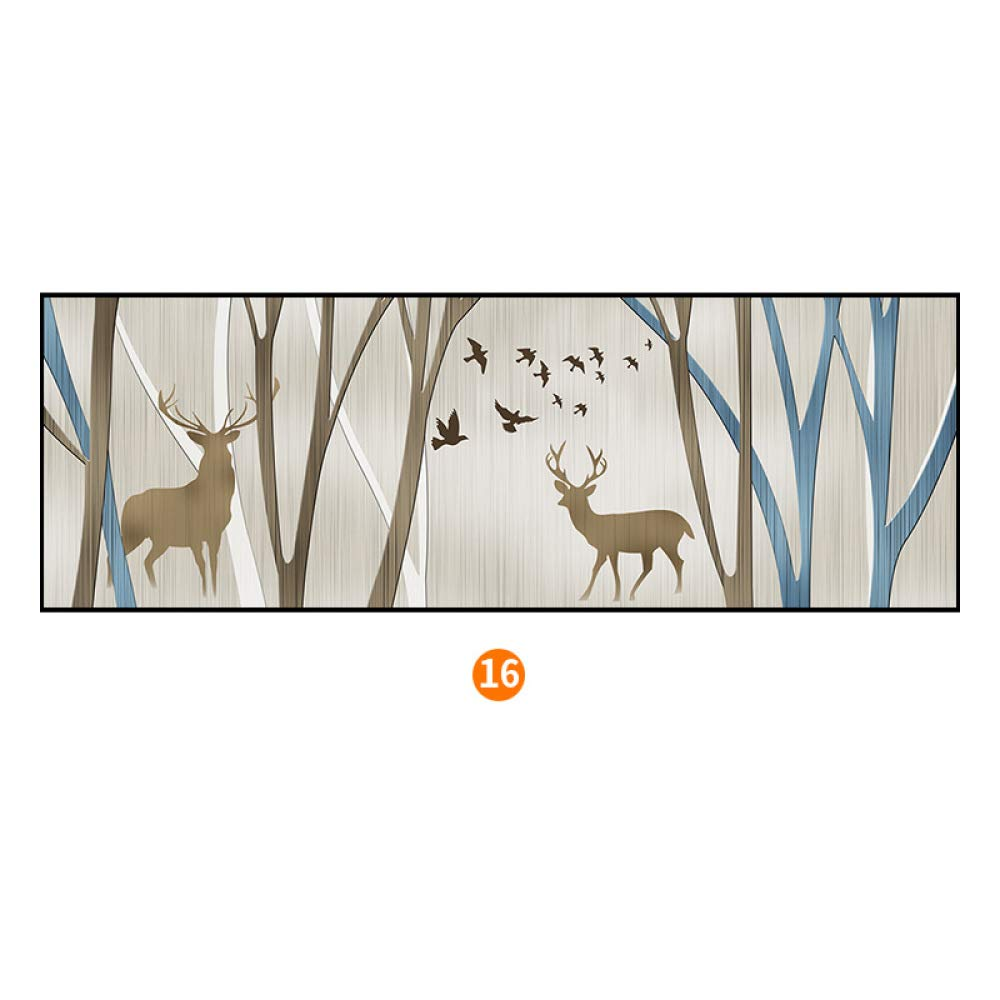SED Stylish elk Bedroom Bedside Painting, Modern Minimalist Framed Nordic Decorative Painting, Framed Wall Paintings,C,40150cm by SED