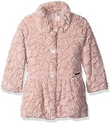 Calvin Klein Little Girls\' Faux Fur Jacket, Light Pink, 5