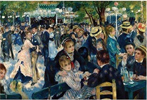 La De Montmartre Galette Moulin (Tomax Ball at the Moulin de la Galette, Montmartre 1000 Piece Pierre-Auguste Renoir Jigsaw Puzzle)