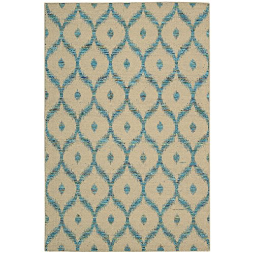 - Nourison Spectrum SPE02 Rectangle Rug, 3-Feet 9-Inch by 5-Feet 9-Inch, Beige Turquoise