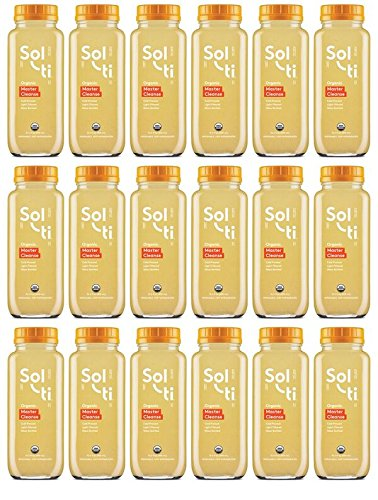 Master Cleanse Water - Sol-ti Master Cleanse SuperAde | Certified Organic | Glass Bottled | Light Filtered, 15.5 oz, 18 Pack