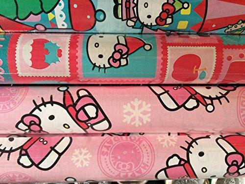 Purple HELLO KITTY ~ Christmas Gift Wrap Paper ()
