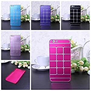 Mini - Metal Hit Color Pattern Hard Case for iPhone 6 , Color-Silver