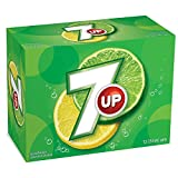 7UP Cans, Natural Refreshing Lemon-Lime Taste 355mL, 12 Pack