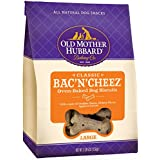 Old Mother Hubbard Classic Crunchy Natural Dog Treats, Bac'N'Cheez Large Biscuits, 3.3-Pound Bag