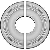 "Ekena Millwork CM09MA2-03500 9 5/8""OD x 3 1/2""ID x 1 1/8""P Maria Ceiling Medallion, Fits Canopies up to 3-1/2"", 2 Piece"