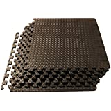 ProSource Puzzle Exercise Mat EVA Foam Interlocking Tiles