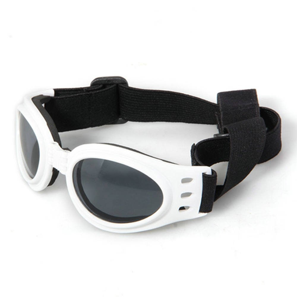 White Framed Pet Puppy Dog UV Protection Doggles Goggles Sunglasses Eyewear lgking supply