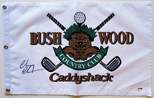 - Chevy Chase Autographed Caddyshack Golf Pin Flag - PSA/DNA