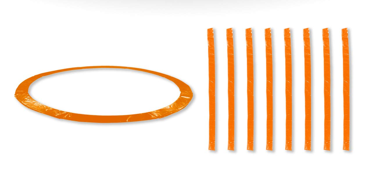 Orange 14FT 8 Perches JUMP4FUN Accessoires Trampoline Exterieur Deluxe 10FT, 12FT, 13Ft ou 14FT Pack Relooking Choix Couleurs, Tailles et Nombre de Perche