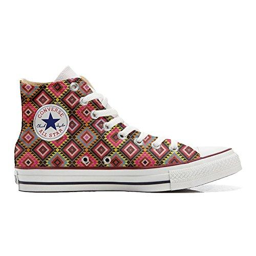 African Handwerk Texture Schuhe All Hi Star Schuhe Customized Converse personalisierte UF81vqvw
