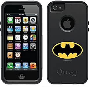 Coveroo OtterBox Commuter Series Case for iPhone 5/5s - Retail Packaging - Batman Design/Black