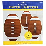 Amscan Football Frenzy Birthday Party Hanging Lanterns Decoration (3 Piece), Multi Color, 12 x 11