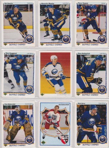 - Buffalo Sabres 1990-91 Upper Deck Team Set w/ High Numbers (22 Cards) (Premier Upper Deck Hockey Issue)