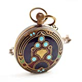 Shirleyle Unisex Retro Vintage Mechanical Pocket Watch With Chain