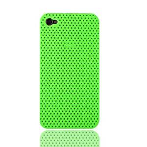 iPhone 4S Hard Rubber Case Accessory Cover Compatible with Apple iPhone 4 4G 4GS AT&T Verizon Sprint MiniSuit LCD Cleaner (Green)